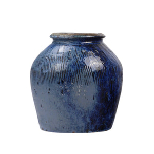 Blue Ceramic Jar