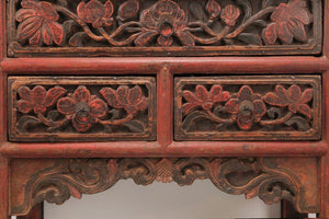 Console Table in Red Lacquer