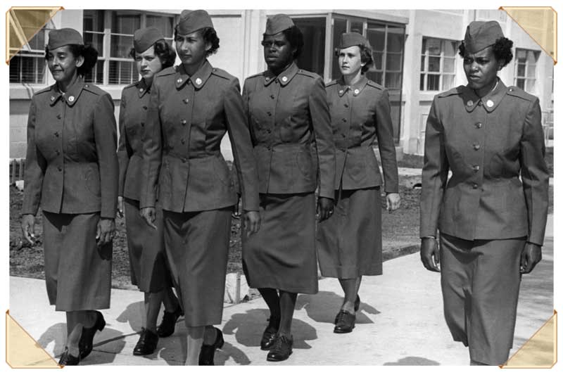 Vintage photograph of military jackets worn by the army.