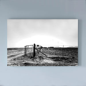 SOUTH AFRICA - LITTLE KAROO - gate with landscape