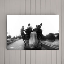 Load image into Gallery viewer, SENEGAL - men on the truck moving