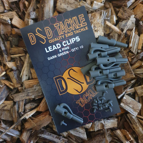 Lead Clip with pins- Dark Green