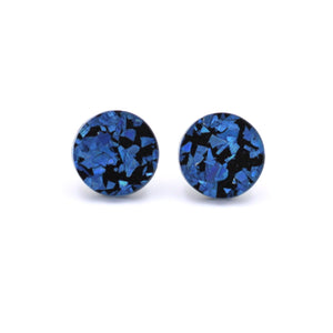 Blue/Black Holographic Acrylic Stud Earrings