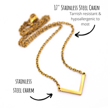 Load image into Gallery viewer, Gold Chevron Necklace