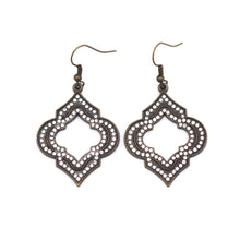 Load image into Gallery viewer, Bronze Moroccan Rhinestone Earrings