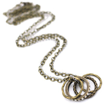Load image into Gallery viewer, Mixed Metal Rings Necklace