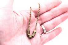 Load image into Gallery viewer, Bronze Square Bead Necklace