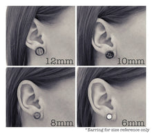 Load image into Gallery viewer, Light Pink Prism Stainless Steel Stud Earrings