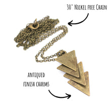 Load image into Gallery viewer, Layered Triangle Necklace