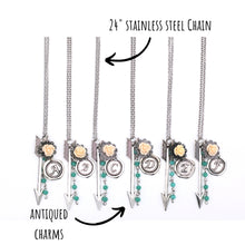 Load image into Gallery viewer, Silver Initial Arrow Necklace