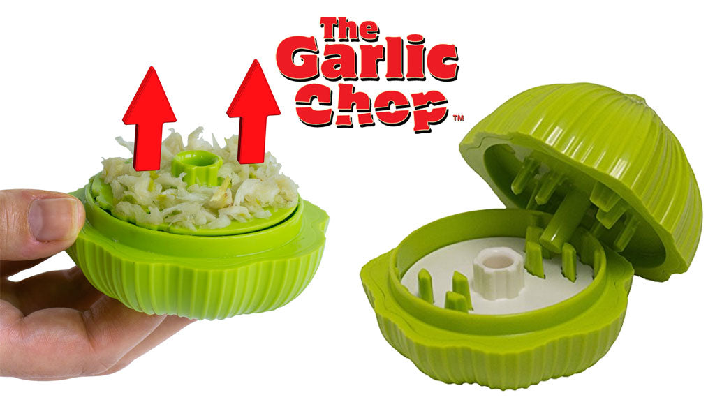 Green Garlic Chop push the button to rise the chopped garlic up