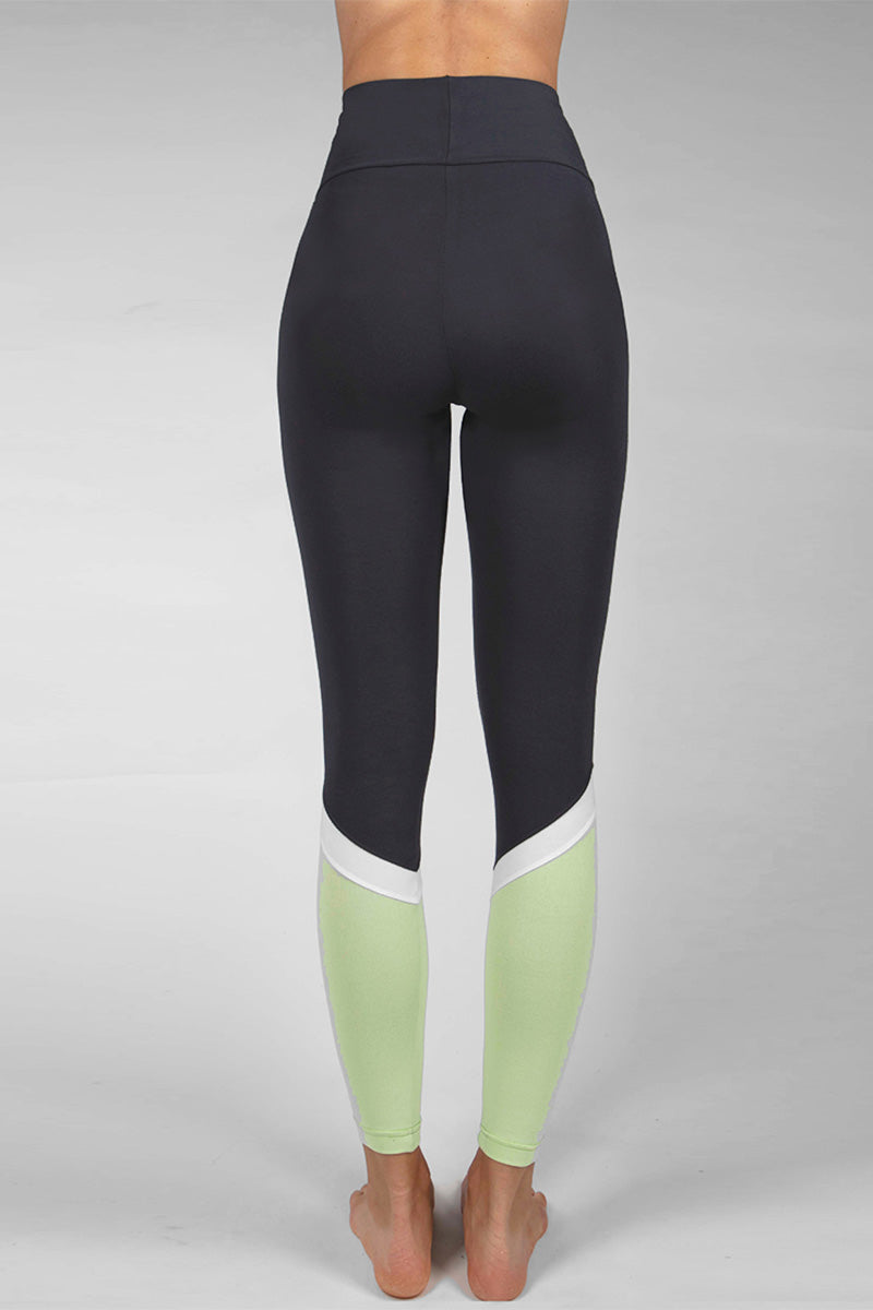 Medium Compression Leggings Slate-Mint