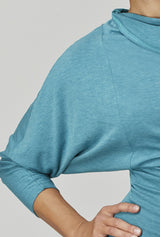 Reversible Long Sleeve Upside-Down Top Teal