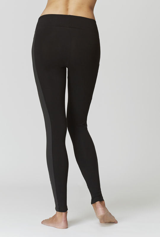 Medium Compression Leggings with Pockets Black