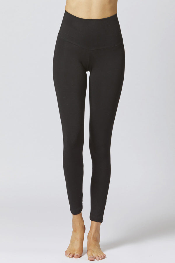 Medium Compression Leggings with Back Frill Skirt Black