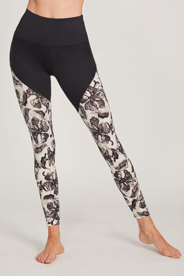 Medium Compression Leggings with Flower Print