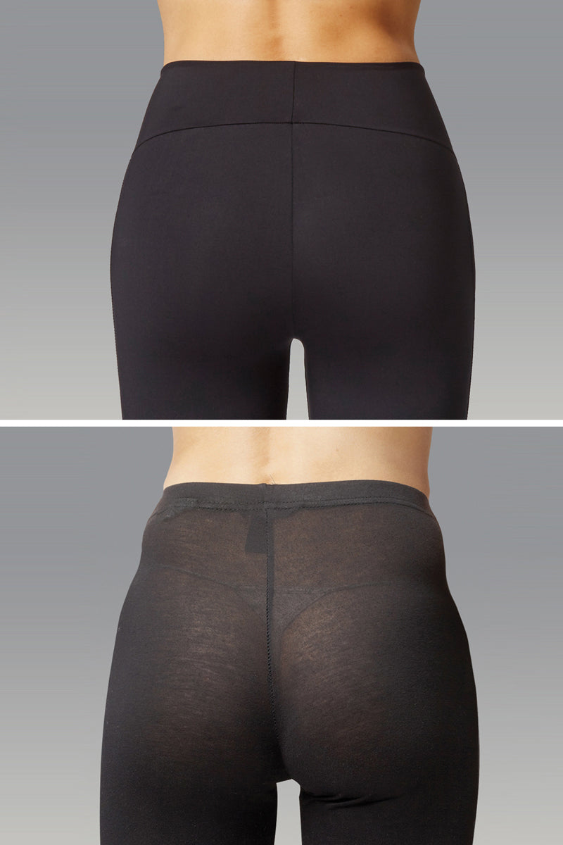 Extra Strong Compression Bootleg with High Tummy Control Black