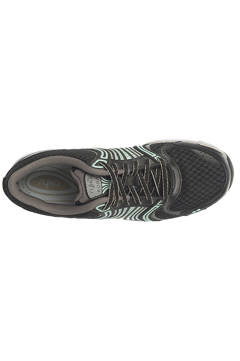Women's Ryka Kora Running Trainers Black-Grey-Mint