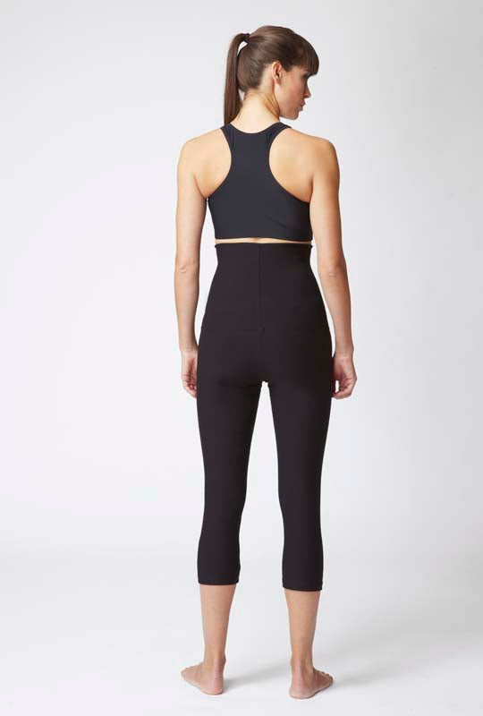 Lightweight Strong Compression Cropped Leggings with High Tummy Control Black - SEO optimization