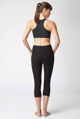 Lightweight Strong Compression Cropped Leggings with Standard Tummy Control Black