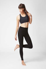 Lightweight Strong Compression Leggings with Standard Tummy Control Black