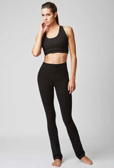 Lightweight Strong Compression Slim Fit Bootleg with Standard Tummy Control Black