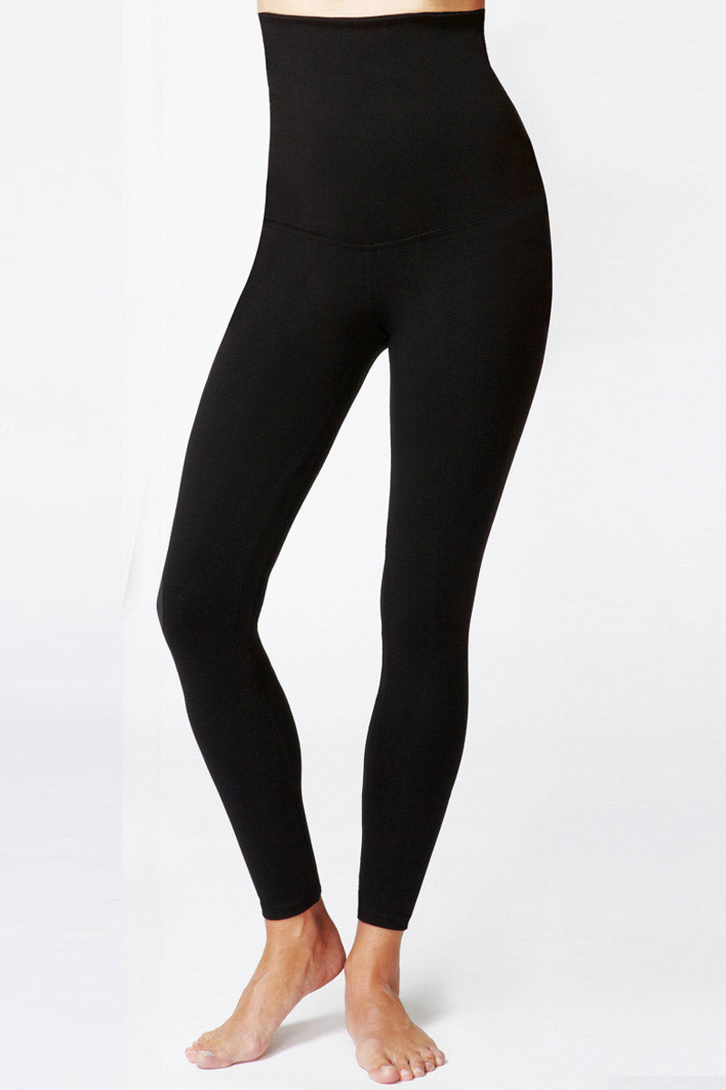 Lightweight Strong Compression Leggings with High Tummy Control Black