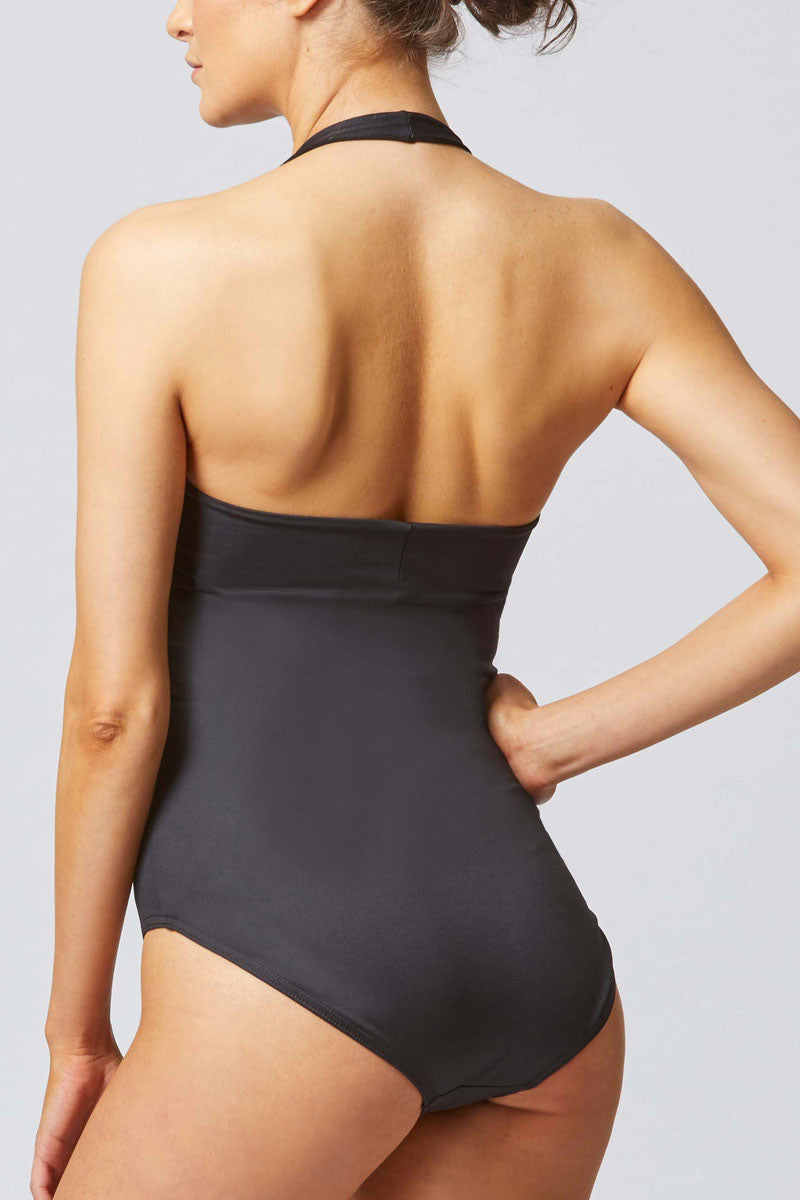 Control Elite Halter Swimsuit Black