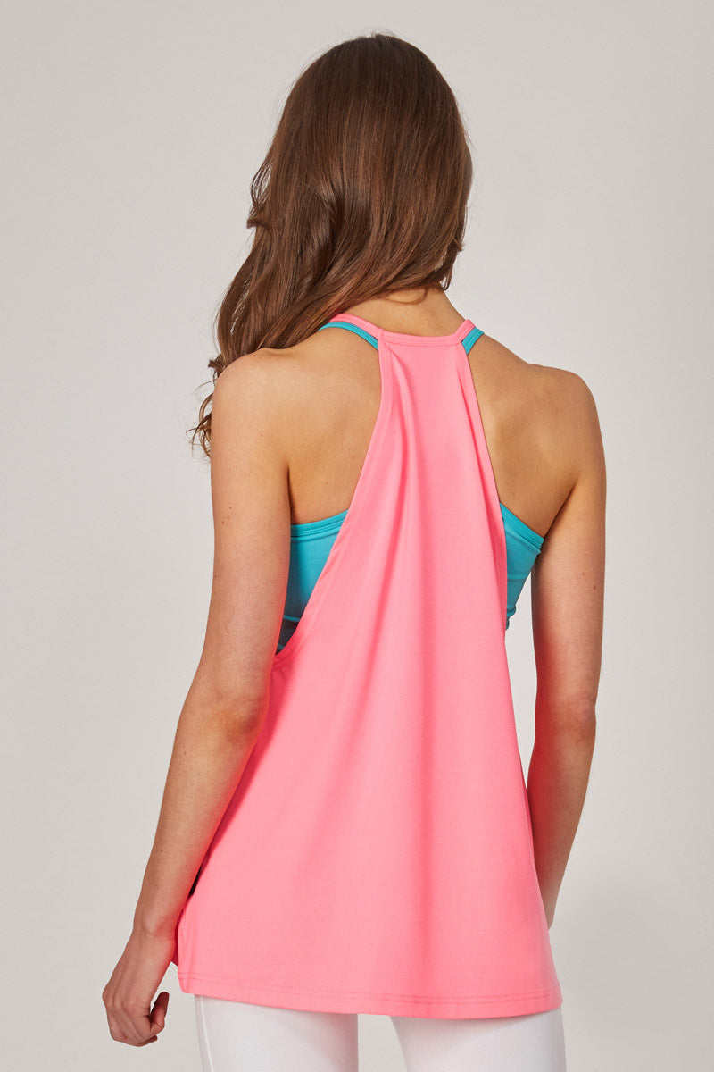 Gym Vest with A-Line Loose Fit Pink