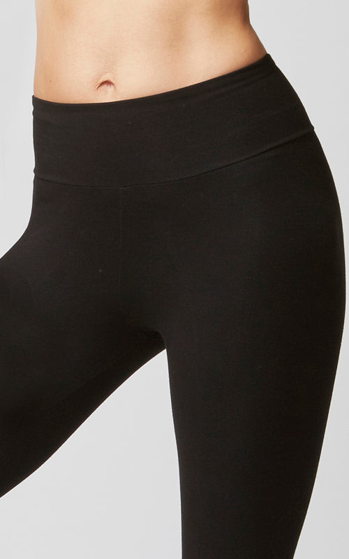 Slimming Shapewear Straight Cut Gym Bottoms Black