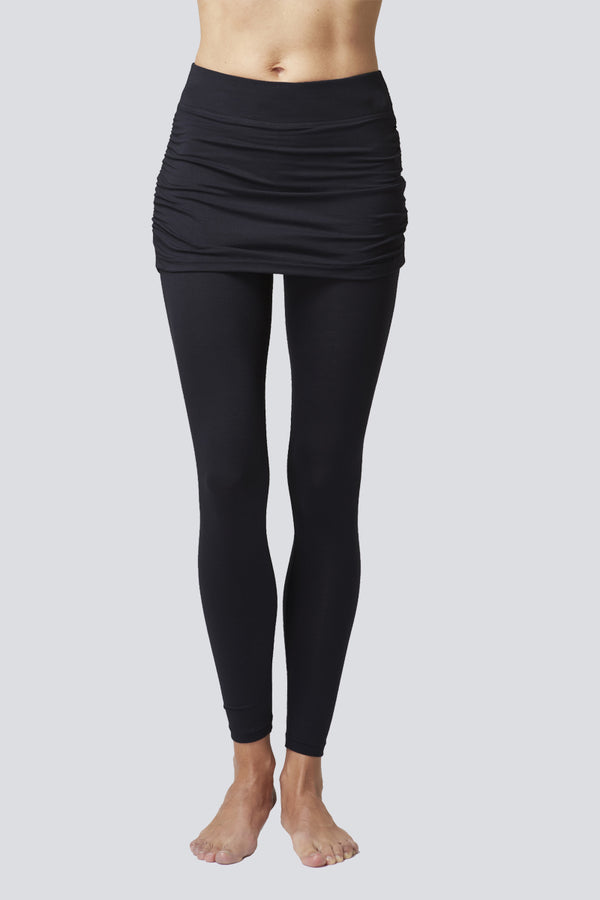 Extra Strong Compression Leggings with Gathered Skirt