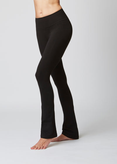 Medium Compression Slim Fit Bootleg Black