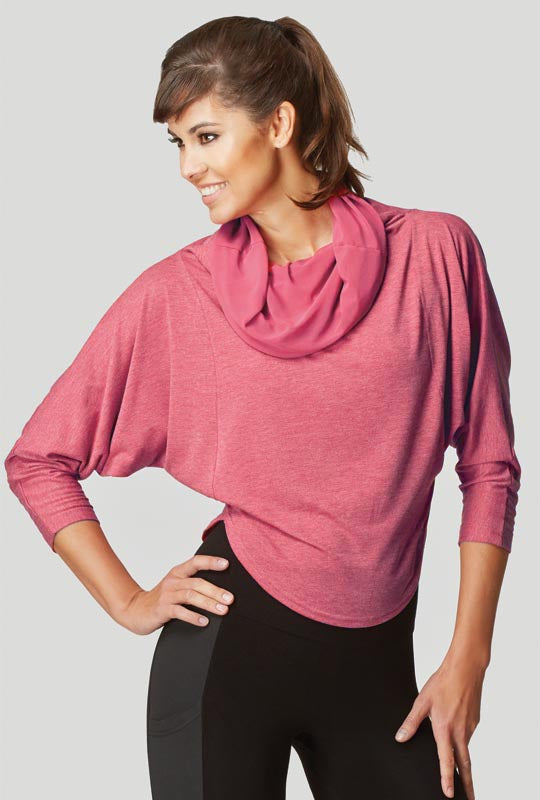 Reversible Long Sleeve Upside-Down Top Berry - SEO optimization