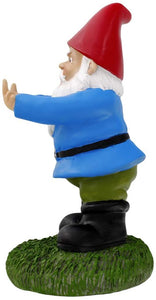gnometastic double bird middle finger db garden gnome original left side
