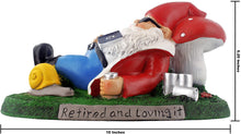 Load image into Gallery viewer, gnometastic retired and loving it garden gnome ruler