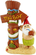Load image into Gallery viewer, gnometastic tiki bar garden gnome front