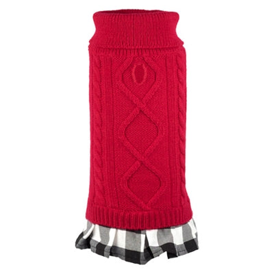 Turtleneck Red Buffalo Plaid Dress