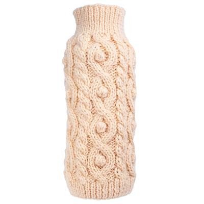 Fisherman Hand Knit Sweater for Dogs - Cream