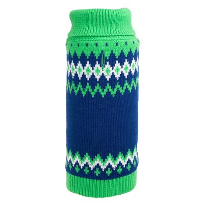 Fairisle Green Sweater for Dogs