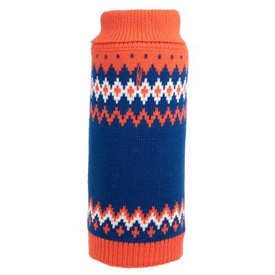 Fairisle Orange Sweater for Dogs