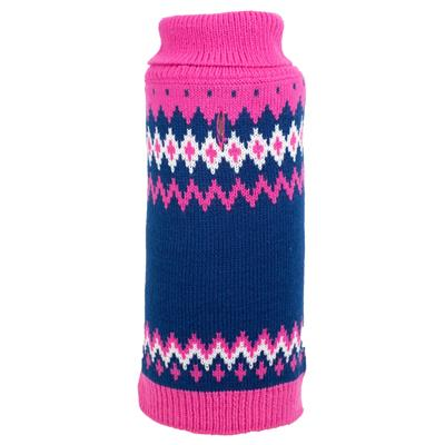 Fairisle Pink Sweater for Dogs