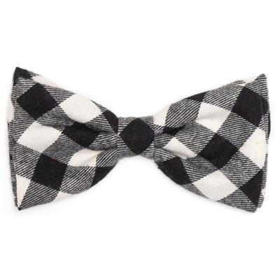 Black / White Buffalo Plaid Bow Tie