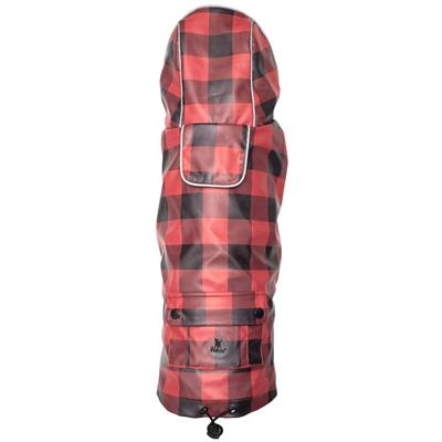 Red Plaid London Raincoat for Dogs