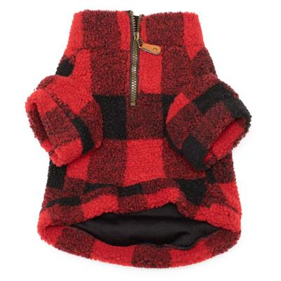 Red Buffalo Plaid Sherpa Fleece for Dogs