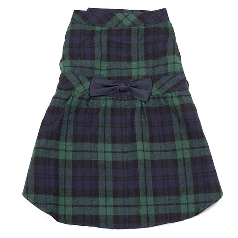 Navy/Green Plaid Dress