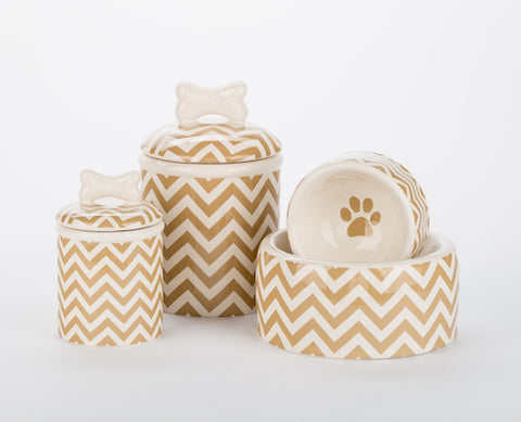 Chevron Bowls & Treat Jars