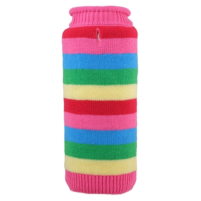 Playful Pink Stripe Sweater for Dogs