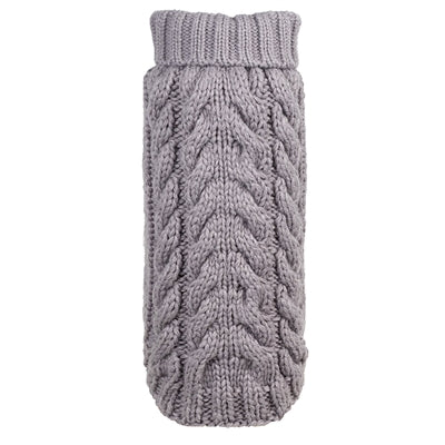 Hand Knit Sweater for Dogs - Gray