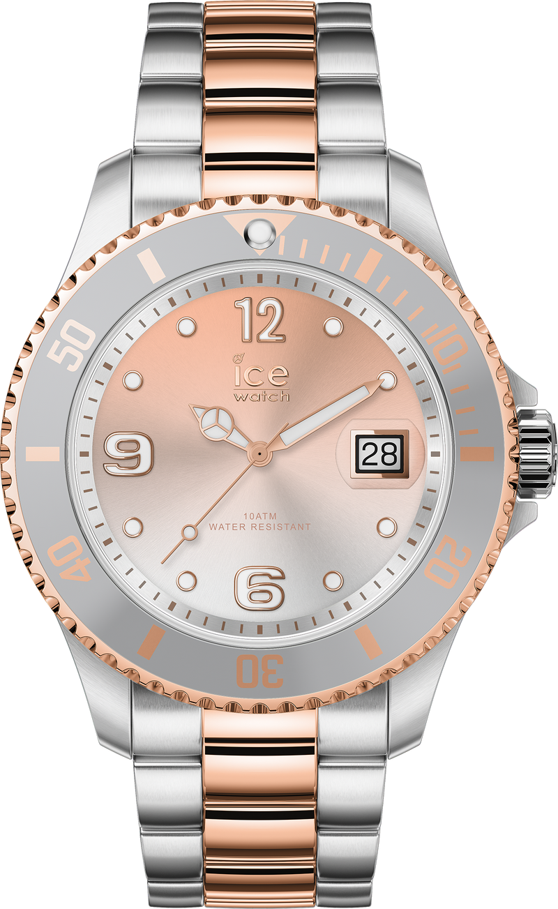 ICE WATCH Steel Silver Sunset Rosegold Medium 3H