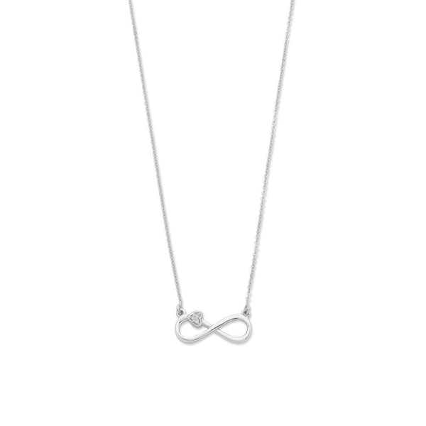 Sterling Silver Diamond Set Necklet